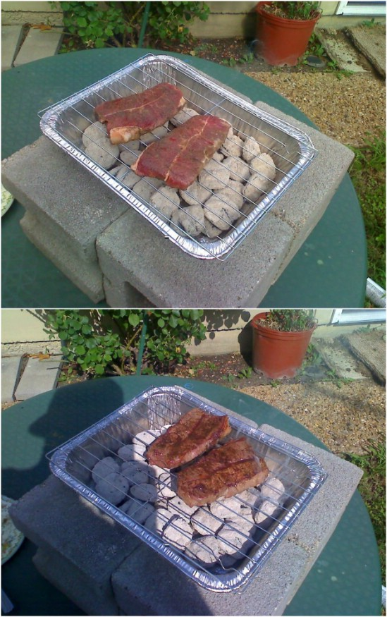 Easy $2 DIY Charcoal Grill