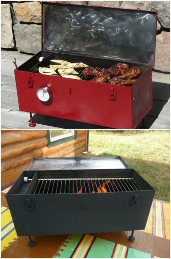 Repurposed Toolbox Grill
