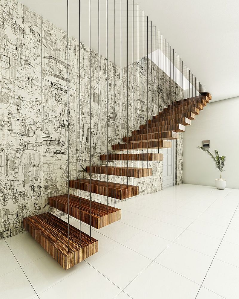 Balanced and Eclectic Staircase