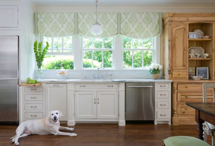 Roman shades for kitchen