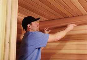 Interior Sauna Ceiling Trim