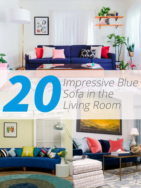 blue living room sofa