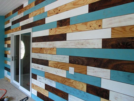 Planked wall